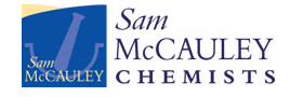 Sam Mccauley Chemists Logo