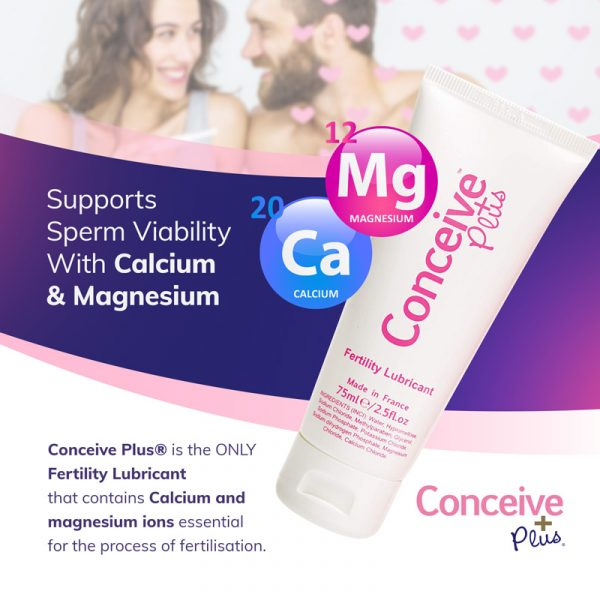 Magnesium and Calcium benefits in fertility lubricant for conception