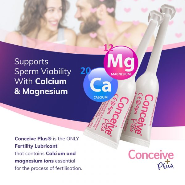 Magnesium and calcium fertility lubricant applicators for getting pregnant faster