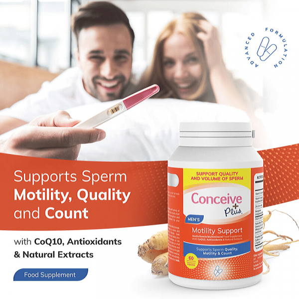 Support sperm motility count volume and quality couple pregnant