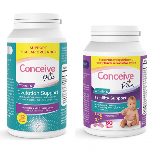Ovulation pills for women with PCOS and fertility capsules bundle
