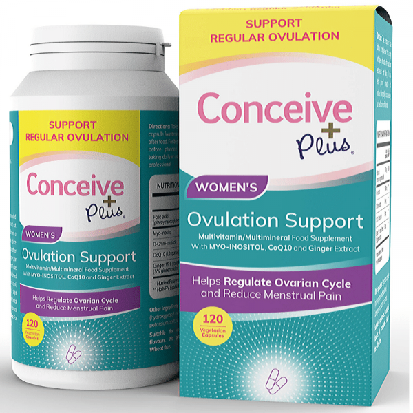 Conceive Plus 120 Ovulation supplement tablets for Polycystic ovarian syndrome